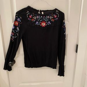 Black floral top from target